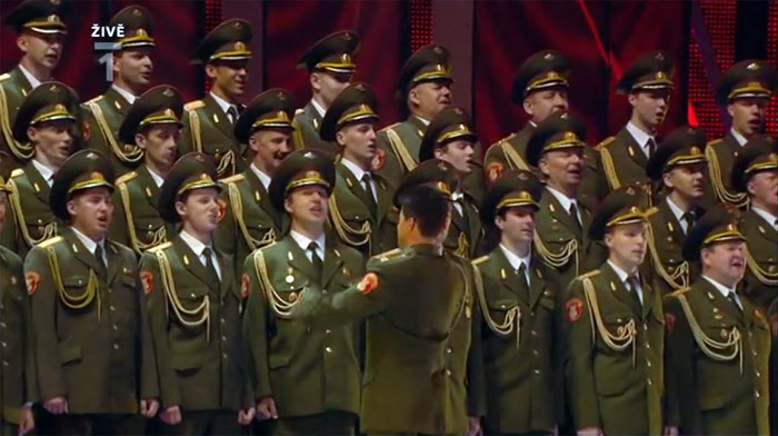 Aleksandrov Red Army Choir on Eurovision Song Contest 2009, Moscow